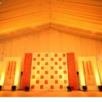 Hindu wedding reception stage decoration Kerala
