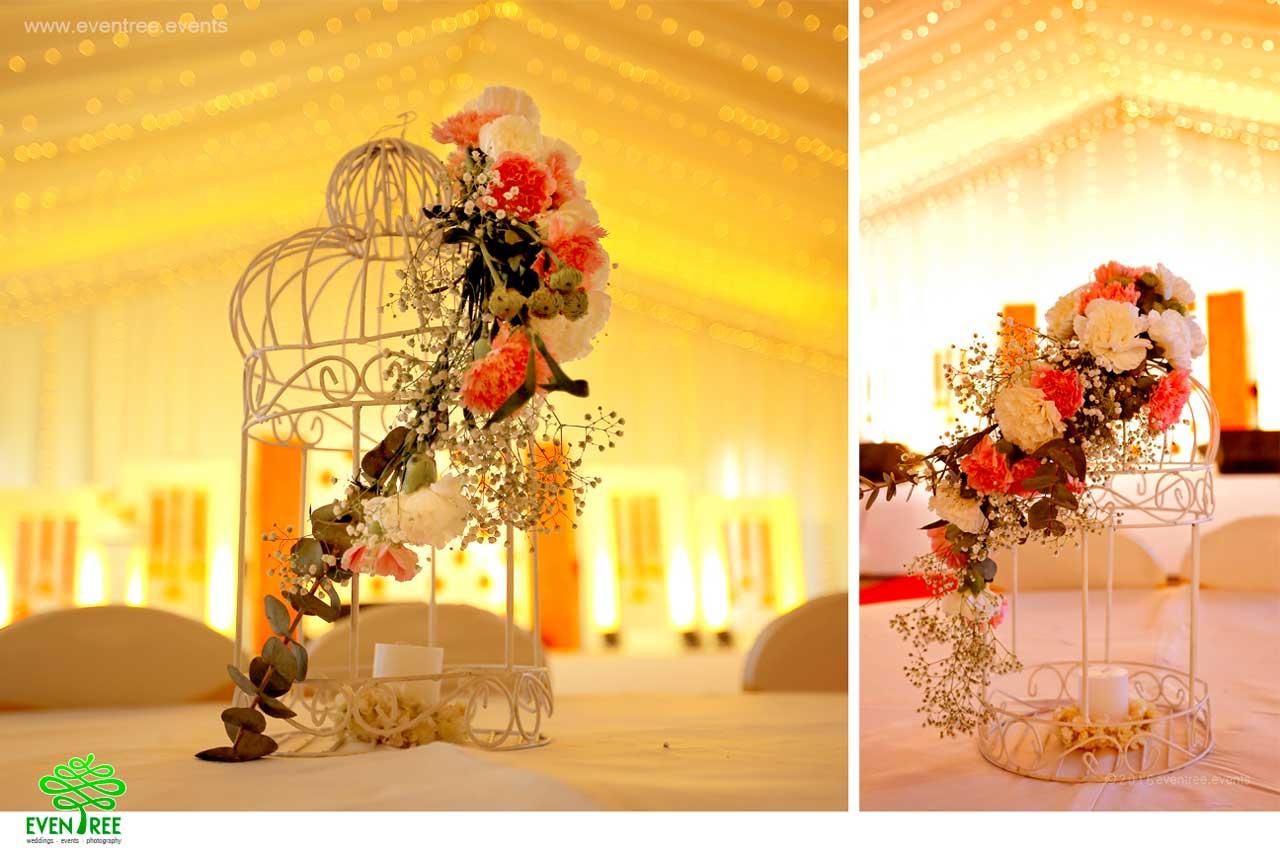 Bird cage flower decoration